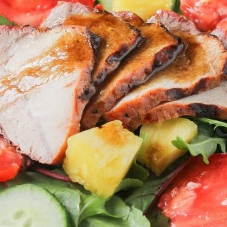 Grilled Pork and Pineapple Salad with Simple Vinaigrette Recipe