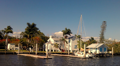 Photo: C'est la Vie loaded up and Sunset Island buttoned up on the eve of our departure.