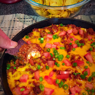 Warm Layered Taco Skillet Dip