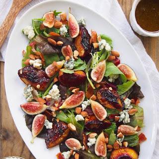 Balsamic Roasted Peach, Fig & Almond Salad.