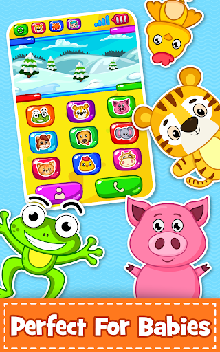 Baby Phone for toddlers - Numbers, Animals & Music apkpoly screenshots 3