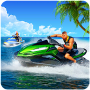 Jet boat racing 3D: water surfer driving game