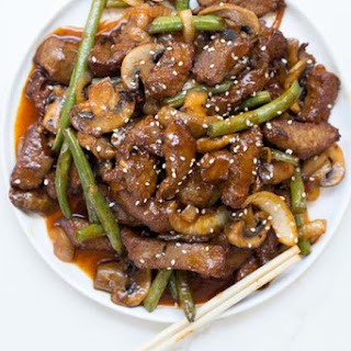 Panda Express Shanghai Angus Steak.