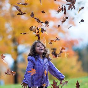 Simply Fun by Larry Rogers - Babies & Children Children Candids ( joyful, joy, fall, children, trees fun, , Emotion, portrait, human, people )