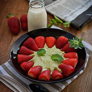 Vegan Avocado Strawberry White Chocolate Mousse