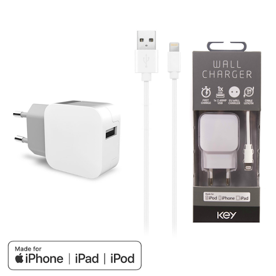KEY Lightning lader iPhone/iPad 2,4a