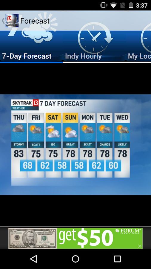 WTHR SkyTrak Weather- screenshot
