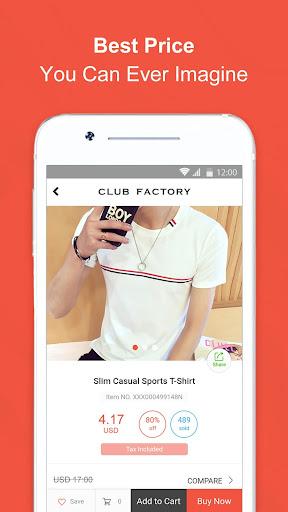 Club Factory Everything, Unbeaten Price 4.7.7 screenshots 2