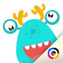 Gotcha Monster - Dot to dot icon