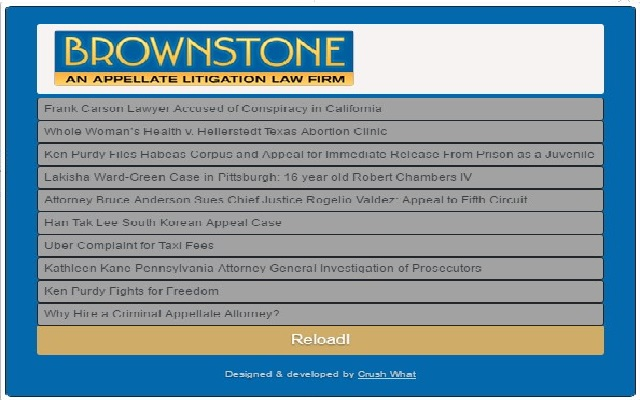 Brownstone Law Blog Extension