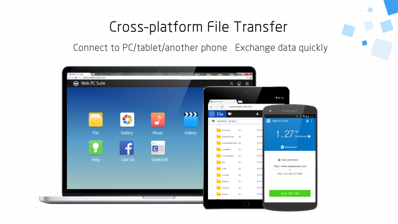 Web PC Suite - File Transfer - screenshot