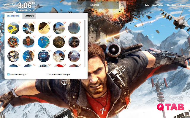 Just Cause 3 New Tab Wallpapers