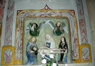 Photo: Rétable, froupe sculpté, Vierge de pité, 1er quart du XVème