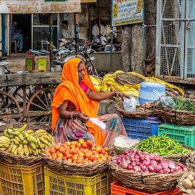 Street vegetable shop by Brijesh Meena - City,  Street & Park  Street Scenes ( street, vegetable shop, street scene, street photography, street vegetable shop )
