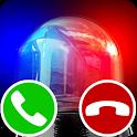 police fake call icon