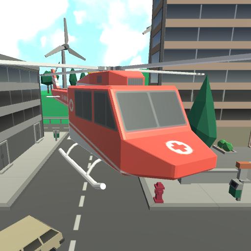helicopter rescue city escape