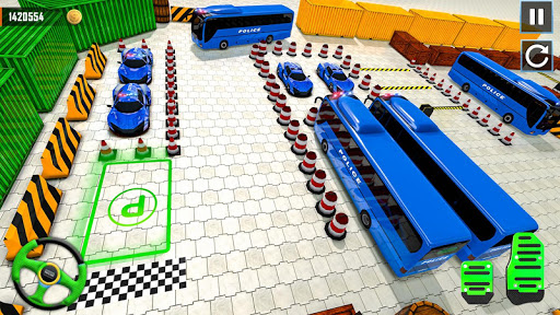 Police Bus Parking Game 3D - Police Bus Games 2019 screenshots 7
