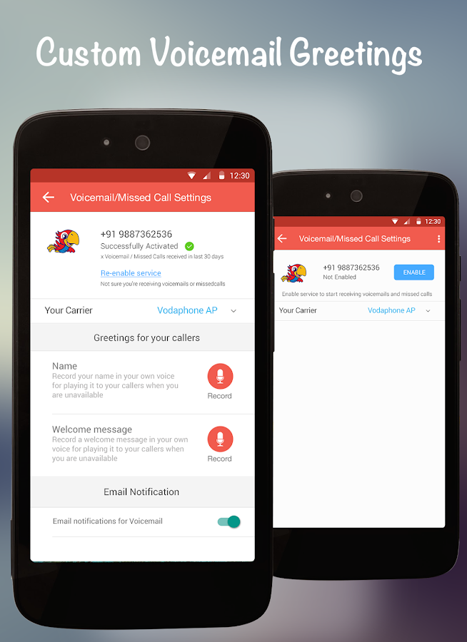 InstaVoice: Visual Voicemail- screenshot