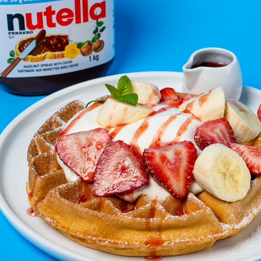 Strawberry Banana Nutella Waffle