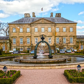 Dumfries House by Andrew Lancaster - Buildings & Architecture Homes ( cars, fountain, beauty, royality, wales, house, dumfries, building, landscape, prince, stone,  )