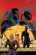 Photo: BLACK PANTHER #10 Variant Cover. 2016. Ink(ed by Joe Rivera) on bristol board with digital color, 11 × 17″.