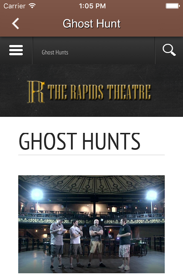 Rapids Theatre- screenshot
