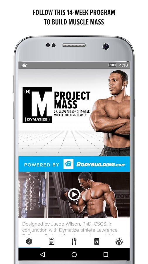 Project Mass by Dymatize- screenshot