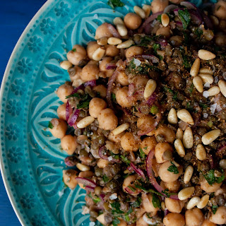 Lentil and Chickpea Salad with Coriander, Cumin, and Garlic Oil Recipe