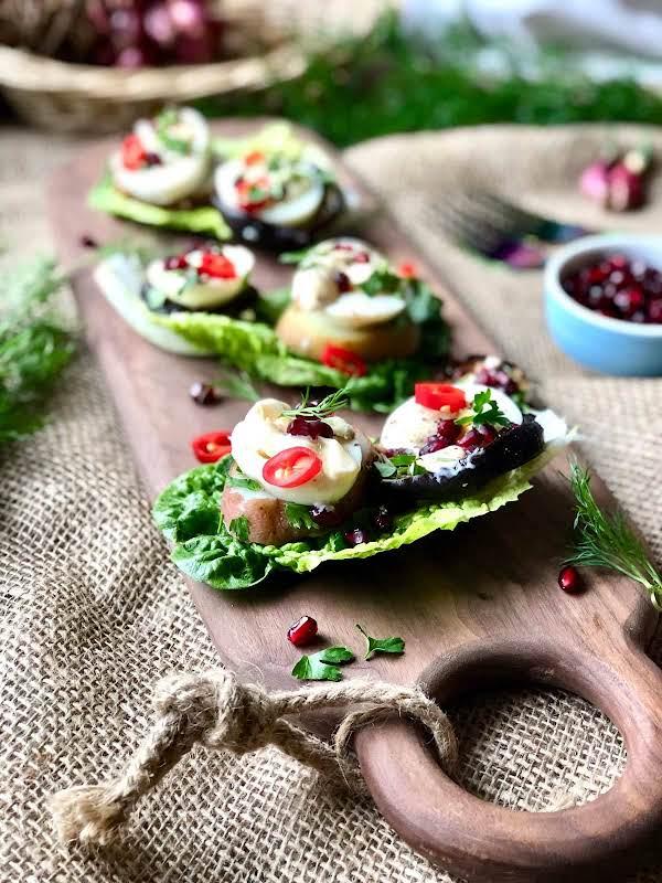 Eggs, Spicy Lamb Koftas And Salad Boats Recipe