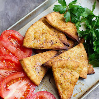 Homemade Pita Chips.