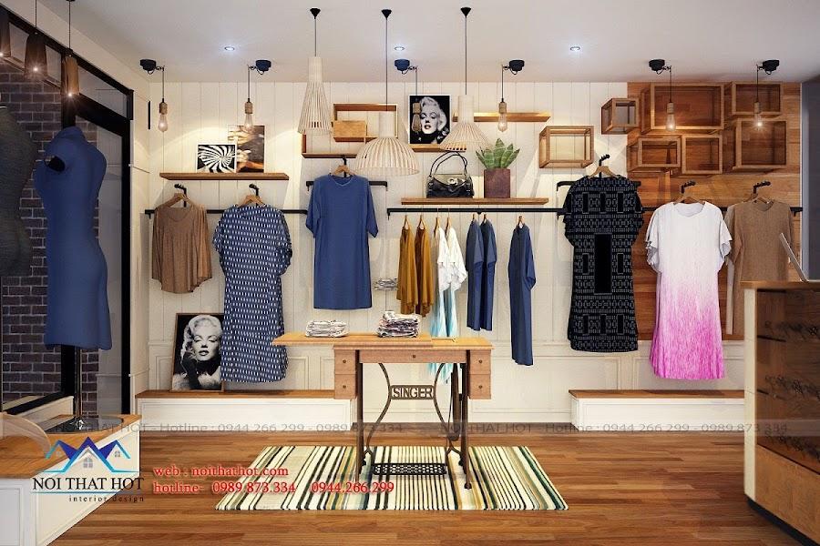 thiết kế shop thời trang nữ sáng tạo tại hà nội