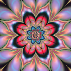 Flower 7 by Cassy 67 - Illustration Abstract & Patterns ( abstract, pastel, bright, digital art, lovely, harmony, flowers, fractal, digital, fractals, flower, energy )