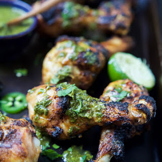 Spice Rub Grilled Chicken with Chimichurri.