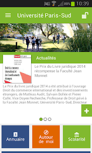 Université Paris-Sud – Vignette de la capture d'écran
