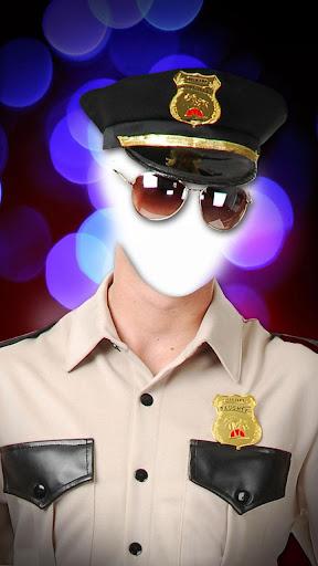 警察官の制服自分撮りのフォトエディタ