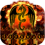 Fire Dragon Fantasy Keyboard 10001011