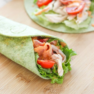 Chicken BLT Spinach Wrap.