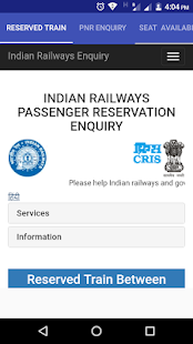 Indian Railway Enquiry - náhled