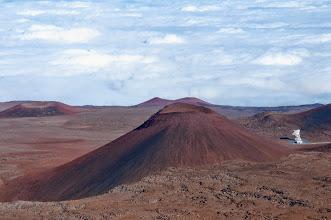 Photo: Cinder cones on the flanks of Mauna Kea.