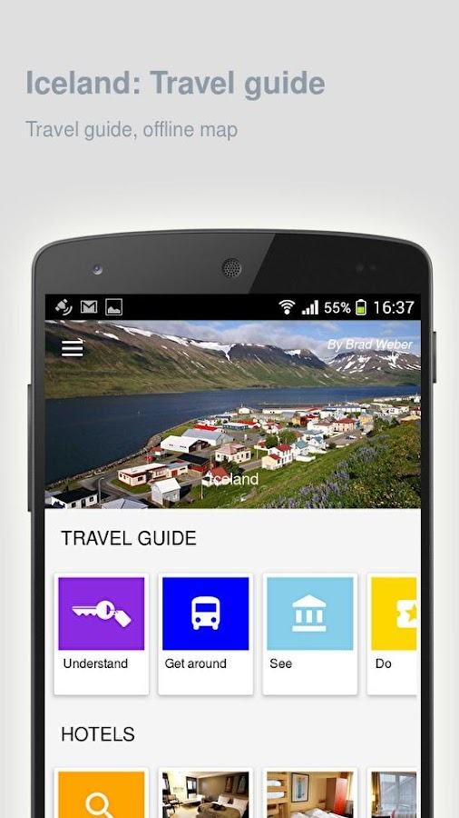 Iceland: Offline travel guide- screenshot