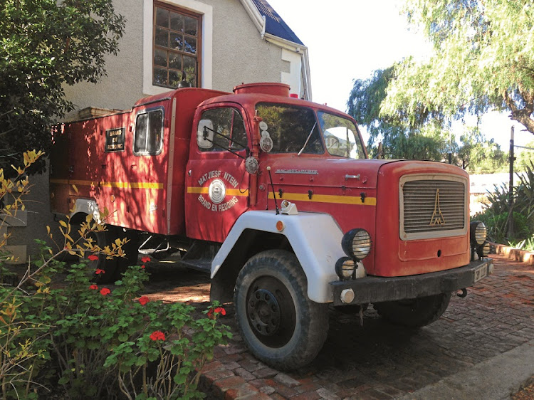 The vintage fire engine. Still ready for use at any moment. Picture: Tony Jackman
