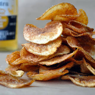 Homemade Barbecue Potato Chips.