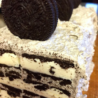 Easy 3-Ingredient Cookies & Cream Ice Cream Cake