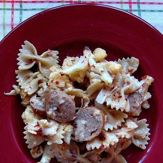 Spicy Cauliflower and Turkey Sausage Pasta