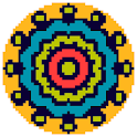 Mandala Flowers Color by Number-Pixel Art Coloring icon