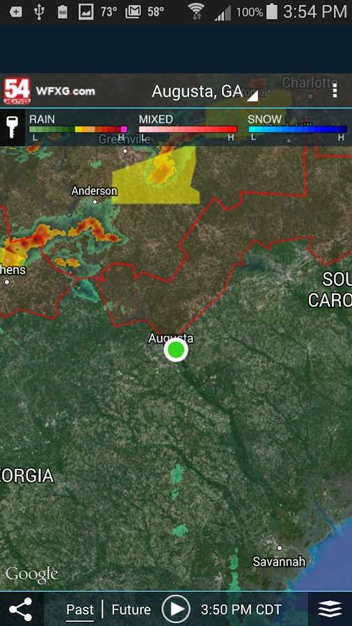 WFXG First Alert Weather - screenshot
