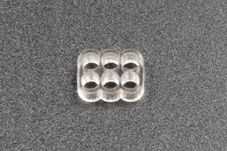Kabelkam for 6 pins kabel, 2x3 Ø4mm hull, klar