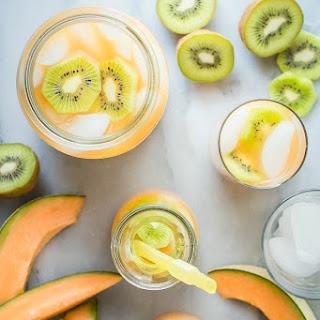 Cantaloupe Melon and Kiwi Agua Fresca.