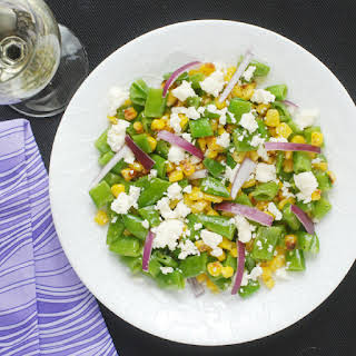 Snap Pea and Fire Roasted Corn Salad.