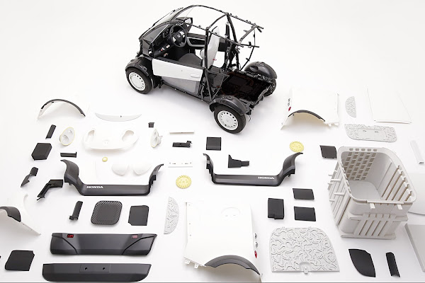 Honda Kabuku 3D-printed delivery vehicle components
